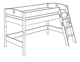 paidi fleximo spielbett 125 griffleiter schr g 1448406. Black Bedroom Furniture Sets. Home Design Ideas