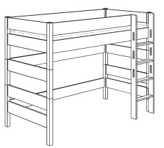 paidi biancomo spielbett 155 griffleiter gerade 1678490 m bel zum. Black Bedroom Furniture Sets. Home Design Ideas
