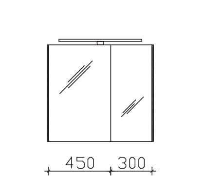 Pelipal Solitaire 9005 Spiegelschränke mit Farbtemperaturwechsel