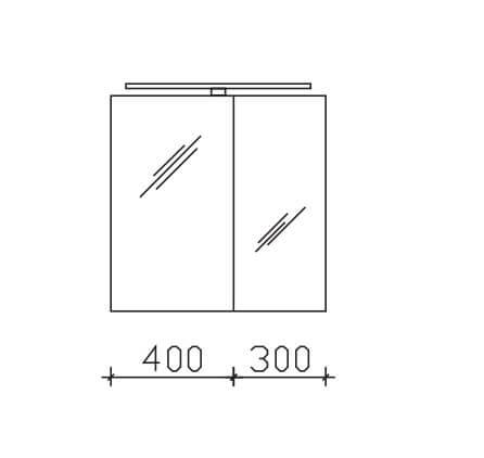 Pelipal Solitaire 9005 Neutrale Doppelspiegelschränke