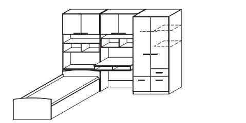rauch packs jugend und kinderzimmer cody zusammenstellungen. Black Bedroom Furniture Sets. Home Design Ideas