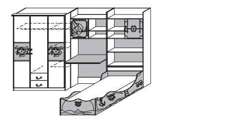 rauch packs jugend und kinderzimmer drake zusammenstellungen. Black Bedroom Furniture Sets. Home Design Ideas