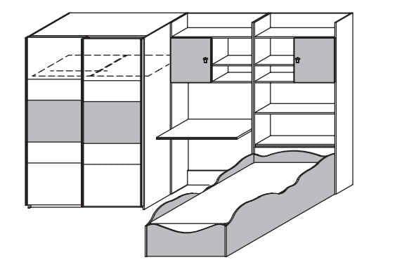 rauch packs jugend und kinderzimmer kate. Black Bedroom Furniture Sets. Home Design Ideas