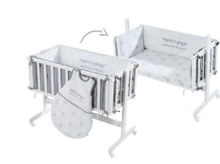 Roba Kollektion Rock Star Baby 2 Beistellbett Room & Cradle